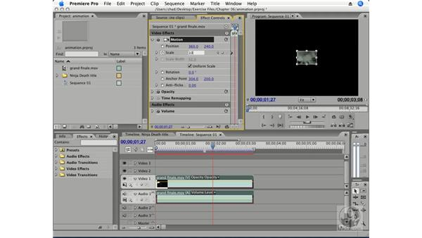 Animating motion pt. 2: Scale: Premiere Pro CS3 Essential Training