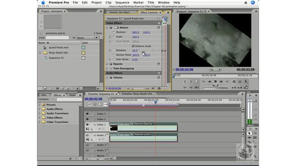 Animating motion pt. 3: Rotation: Premiere Pro CS3 Essential Training