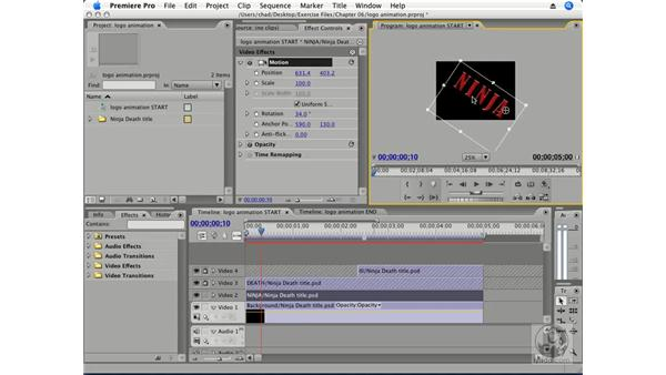 Project: Animating a logo: Premiere Pro CS3 Essential Training