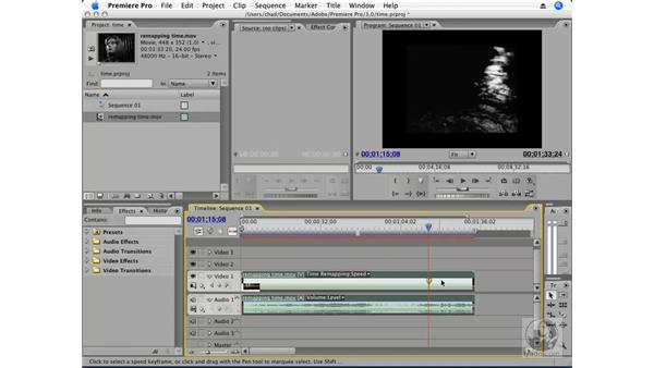 Time remapping a clip: Premiere Pro CS3 Essential Training