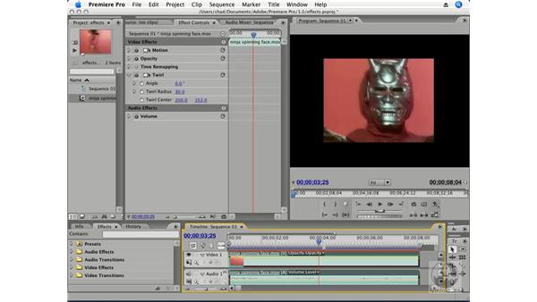 Applying effects: Premiere Pro CS3 Essential Training