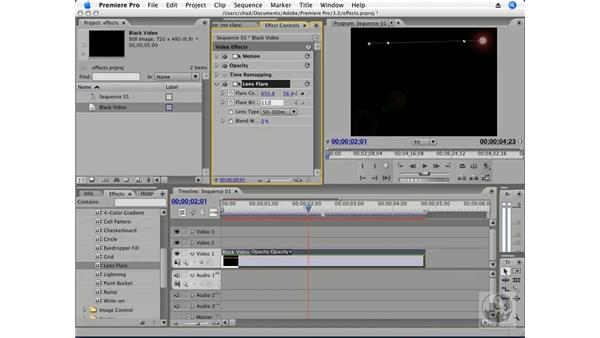Animating effects: Premiere Pro CS3 Essential Training