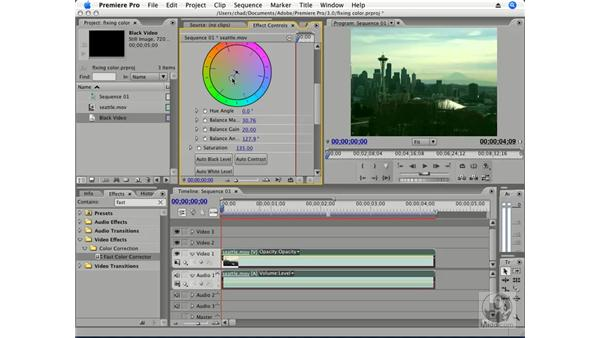 Color correction using effects: Premiere Pro CS3 Essential Training