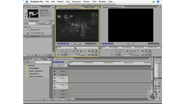 Applying transitions: Premiere Pro CS3 Essential Training