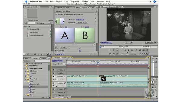 Animating transitions: Premiere Pro CS3 Essential Training