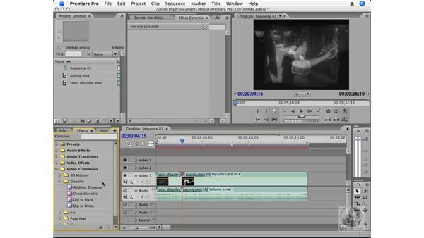 Setting the default transition: Premiere Pro CS3 Essential Training