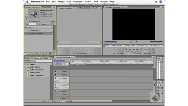 Importing audio: Premiere Pro CS3 Essential Training