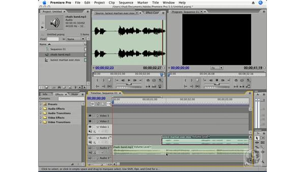 Working with audio layers: Premiere Pro CS3 Essential Training