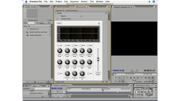 Audio effects: Premiere Pro CS3 Essential Training