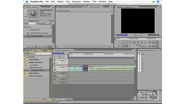 Audio transitions: Premiere Pro CS3 Essential Training