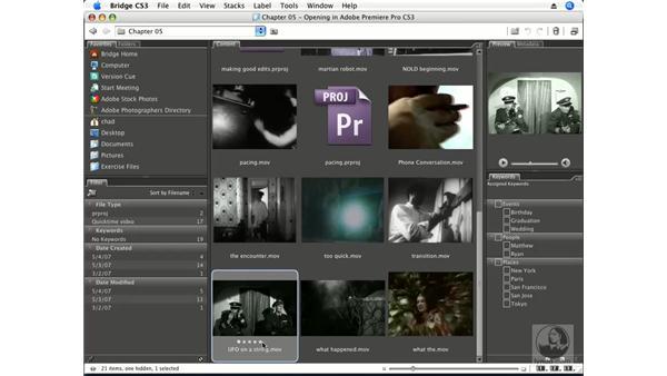 Adobe Bridge CS3: Premiere Pro CS3 Essential Training
