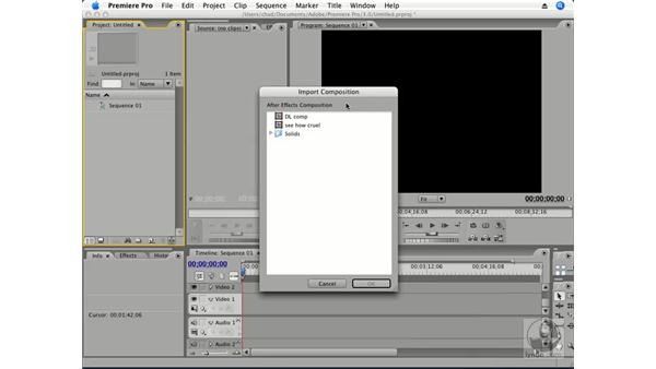 Using Dynamic Link: Premiere Pro CS3 Essential Training