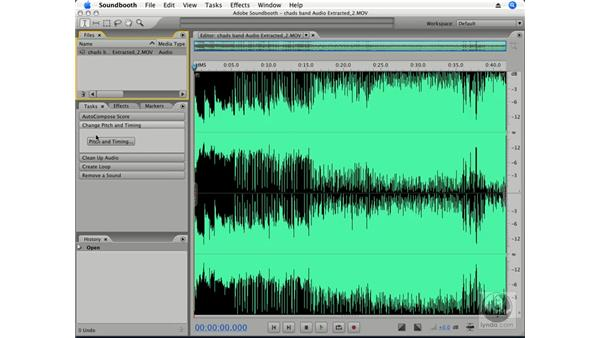 Editing in Soundbooth: Premiere Pro CS3 Essential Training
