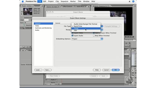 Export file format essentials: Premiere Pro CS3 Essential Training