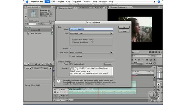 One-click DVD or Blu-ray: Premiere Pro CS3 Essential Training