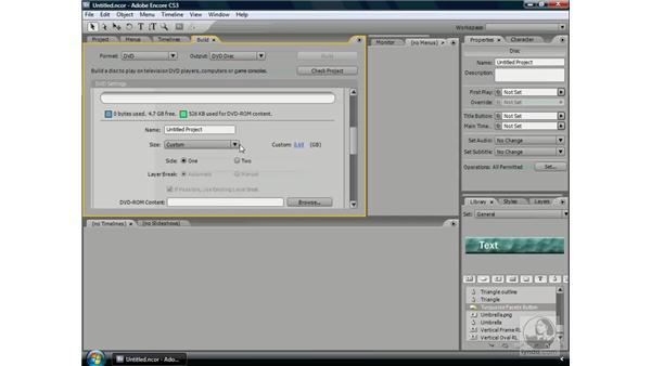 Understanding disc formats: Encore CS3 Essential Training