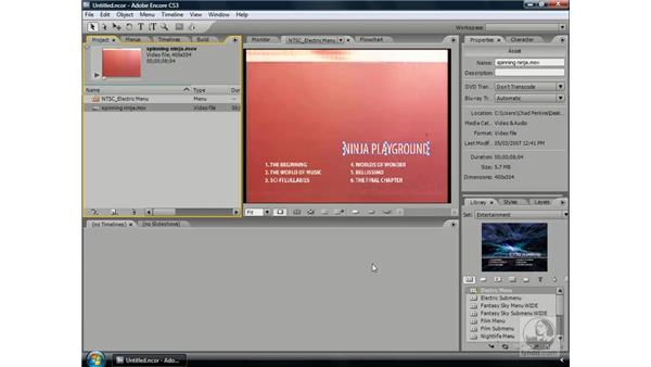 Creating motion menus: Encore CS3 Essential Training