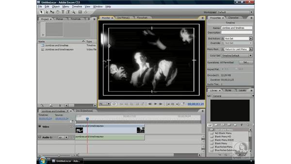 Using the Monitor: Encore CS3 Essential Training