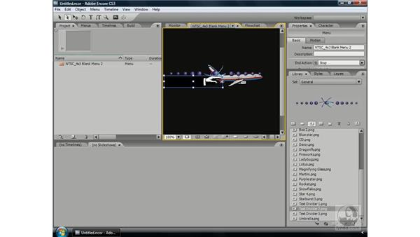 Transforming objects: Encore CS3 Essential Training