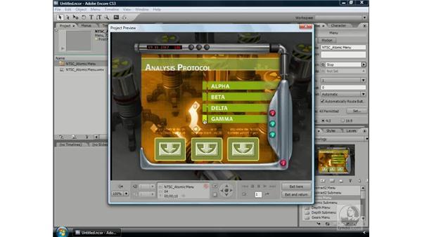Understanding subpictures: Encore CS3 Essential Training
