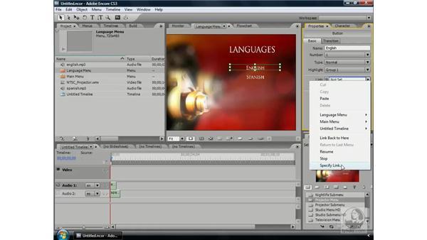 Adding multiple languages: Encore CS3 Essential Training