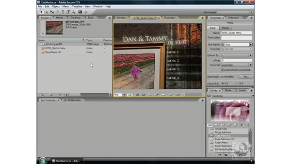 Working with replacement layers: Encore CS3 Essential Training
