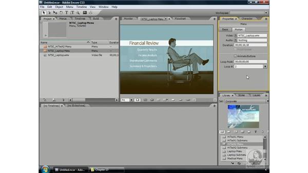 Looping menus: Encore CS3 Essential Training
