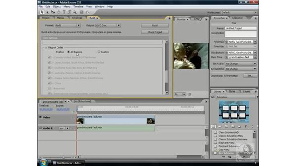 Copy protection and region coding: Encore CS3 Essential Training