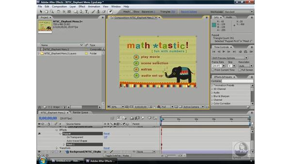 Creating After Effects comps from Encore: Encore CS3 Essential Training