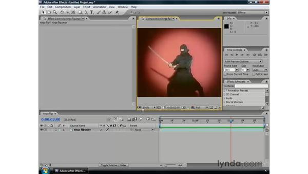 Using workspaces: After Effects CS3 Professional Essential Training