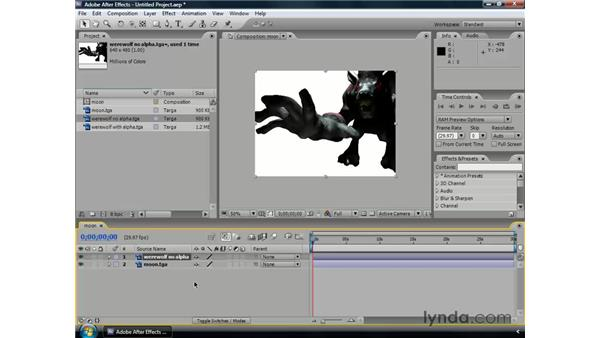 What is an alpha channel?: After Effects CS3 Professional Essential Training