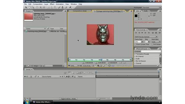 Using image sequences: After Effects CS3 Professional Essential Training