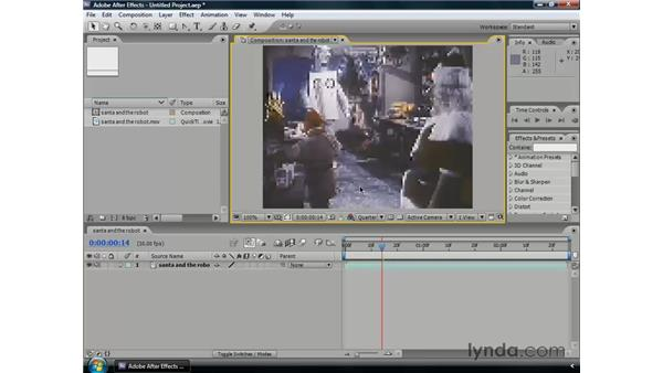 Using the Composition panel: After Effects CS3 Professional Essential Training
