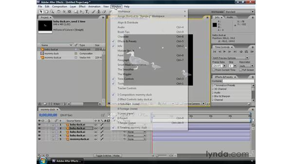 Aligning and distributing layers: After Effects CS3 Professional Essential Training