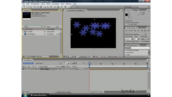 Nesting compositions: After Effects CS3 Professional Essential Training