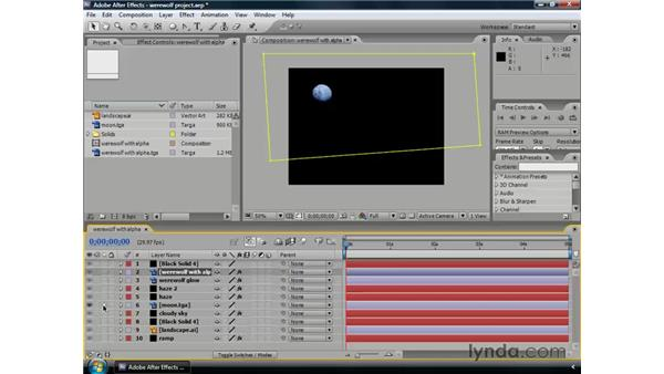 Managing multiple layers: After Effects CS3 Professional Essential Training