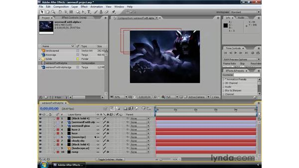 Cleaning up the timeline: After Effects CS3 Professional Essential Training