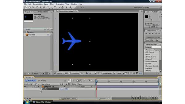 Understanding keyframes and interpolation: After Effects CS3 Professional Essential Training
