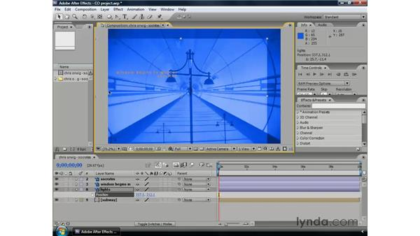 Animating position: After Effects CS3 Professional Essential Training