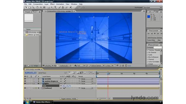 Animating scale: After Effects CS3 Professional Essential Training