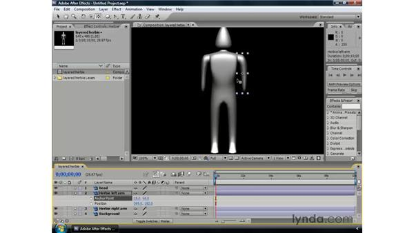 Animating the anchor point: After Effects CS3 Professional Essential Training