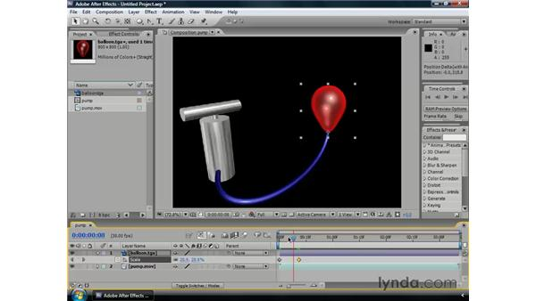 Using the keyframe navigator: After Effects CS3 Professional Essential Training