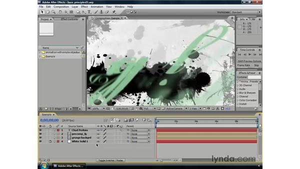 Animation principles: After Effects CS3 Professional Essential Training