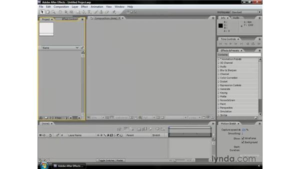Sketching motion: After Effects CS3 Professional Essential Training