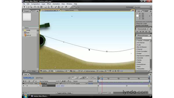 Working with motion paths: After Effects CS3 Professional Essential Training