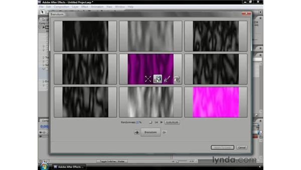 Experimenting with the new Brainstorm feature: After Effects CS3 Professional Essential Training