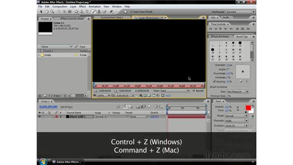 Animating paint strokes: After Effects CS3 Professional Essential Training