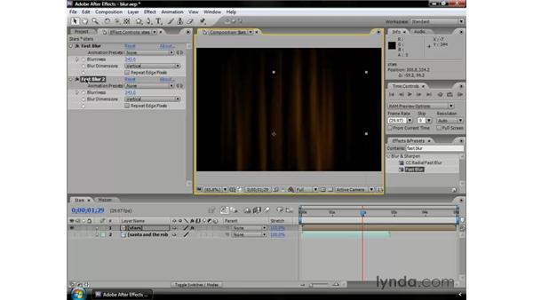 Using blur effects: After Effects CS3 Professional Essential Training