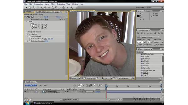 Distorting objects: After Effects CS3 Professional Essential Training