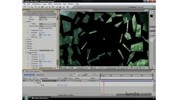 Shattering objects: After Effects CS3 Professional Essential Training